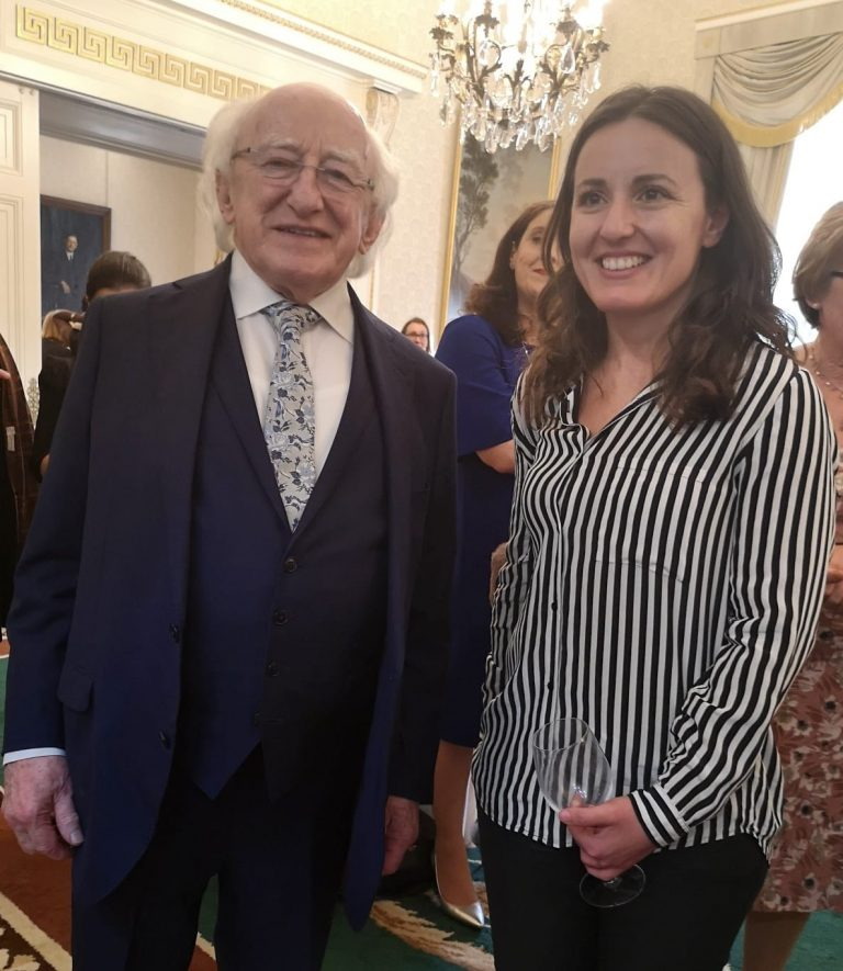 Liliana Meets the President of Ireland