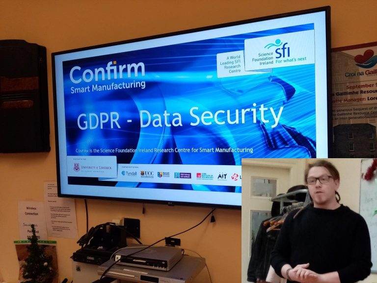 Tom runs data security workshop at Galway-based Charity